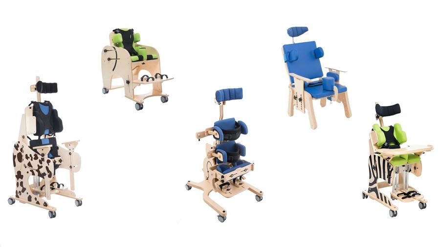 Akces Med presenta pequeñas modificaciones en sillas de interior, bipedestadores y andadores