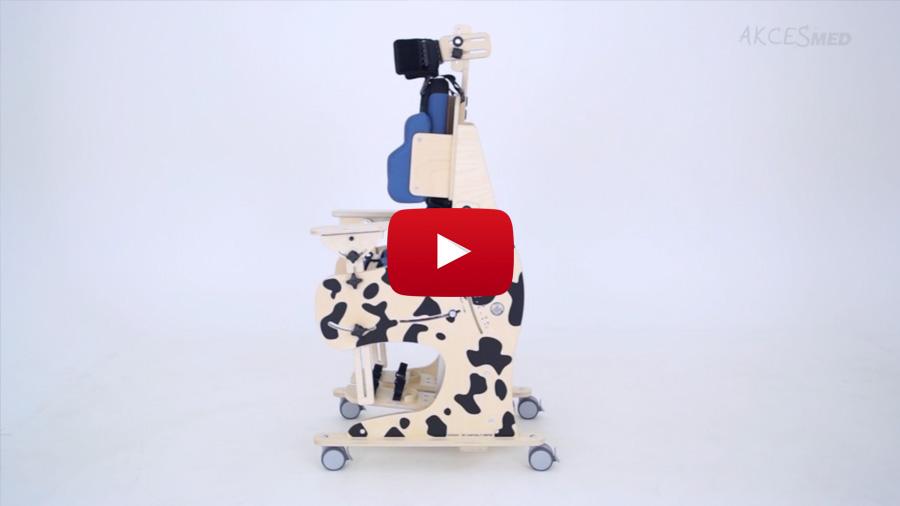Cómo utilizar y ajustar el bipedestador y silla de interior Dalmatian