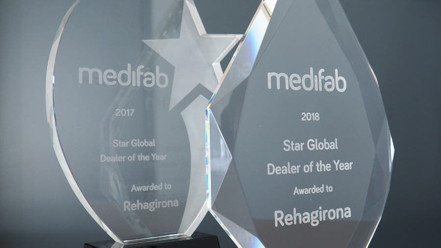 "Por segundo año consecutivo Medifab nos concede el premio ""Star Global Dealer of the Year"""